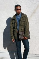 army green military jacket canyon river blues jacket