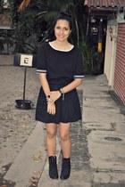 black Emma James blouse - black No Boundaries skirt - white H&M ring