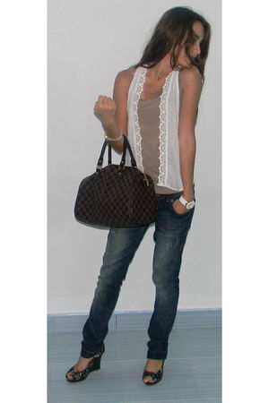 Louis Vuitton purse - Koton vest - LTB jeans - Cupid shoes - Koton necklace