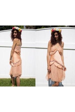 vintage dress Gypsy Gamine Vintage dress - floral crown DIY accessories