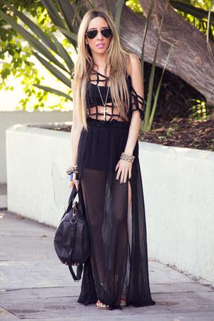 black HAUTE & REBELLIOUS blouse - black HAUTE & REBELLIOUS skirt