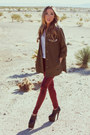 Olive-green-haute-rebellious-jacket-maroon-haute-rebellious-leggings