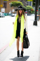 lime green neon HAUTE & REBELLIOUS scarf