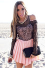 Salmon-lace-jumper-haute-rebellious-jumper