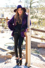 Black-haute-rebellious-leggings-deep-purple-haute-rebellious-coat