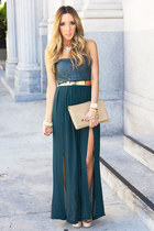 teal HAUTE & REBELLIOUS dress