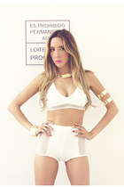 eggshell HAUTE & REBELLIOUS shorts - ivory HAUTE & REBELLIOUS top