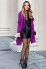Black-haute-rebellious-dress-magenta-chloe-coat-haute-rebellious-coat