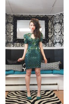 dark green Heiress dress