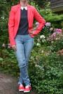 Hot-pink-bright-blazer-c-a-blazer-sky-blue-tregging-h-m-pants