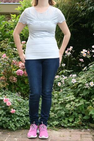 blue tregging H & M pants - light blue baby blue H & M t-shirt