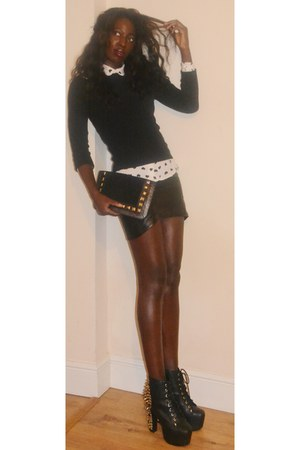 Jeffrey Campbell boots - asos shirt - Ebay bag - H&M skirt - Jesire jumper