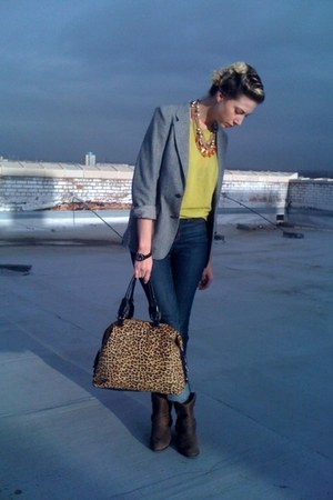 Urban Outfitters jeans - Forever21 sweater - YSL blazer - Kenneth Cole NY bag -