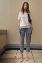quilted Forever 21 sweatshirt - Forever 21 bag - drape pocket asos pants