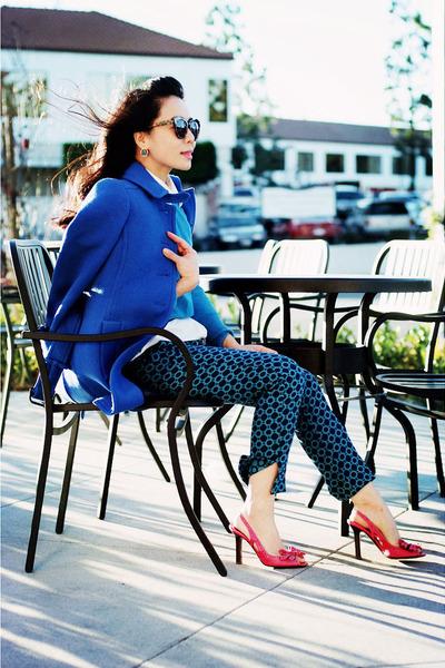 JCrew coat - Celine shoes
