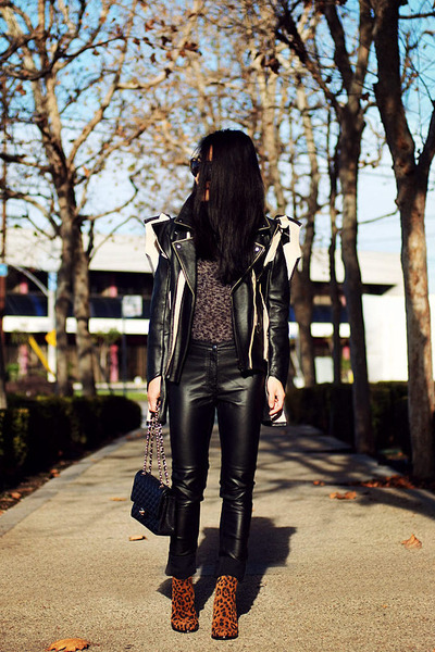 MMM with H&amp;M jacket - Zara boots