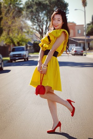 yellow Lanvin for H&M dress - 1 thrifted bag