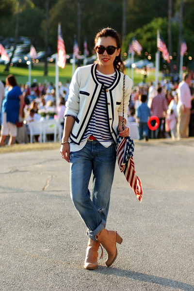 JCrew jacket - acne boots - Levis jeans - t by alexander wang shirt - asos scarf