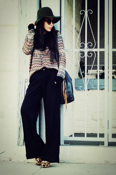 Theory sweater - CCSKYE bag - Gap pants - Steve Madden sandals