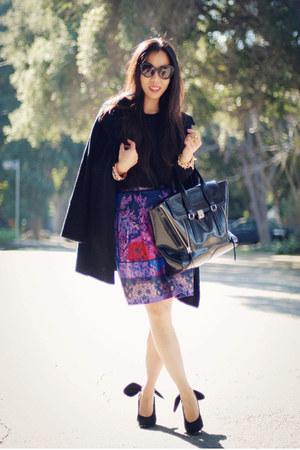 Oasis skirt - H&M sweater - 31 Phillip Lim bag - Prada sunglasses - Carven heels