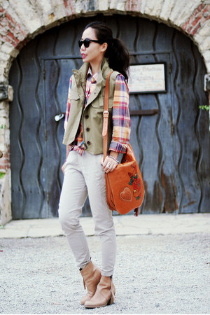 Gucci bag - acne boots - Jcrew jacket - Jcrew shirt - Zara pants