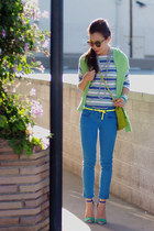 Zara sandals - Zara jeans - JCrew sweater - JCrew girl top