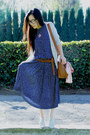 Thrifted-dress-warehouse-bag-asos-belt-oxford-dolce-vita-flats-jcrew-car