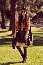 asos blouse - Zara skirt - Jeffery Campbell boots - CCSky bag - D&G accessories