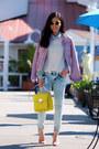 Zara-jeans-bebe-jacket-guess-bag-zara-sandals