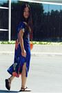 Blue-silk-zara-dress-payless-shoes-sandals