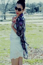 Dolce Vita boots - Fluxus t-shirt - Forever21 skirt - silk Zara blouse