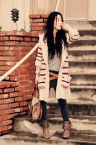 Joie boots - Alice and Oliva dress - a&f sweater - botkier bag