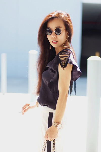 earrings Karla X Roman Luxe accessories - asos sunglasses - ADAM pants