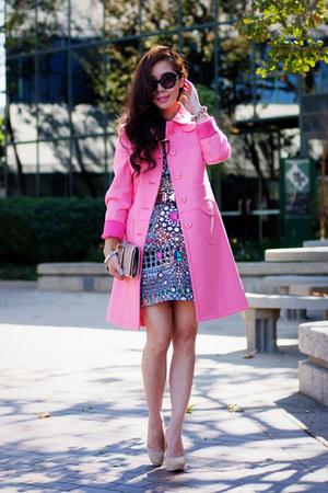 printed asos dress - bubble gum RED valentino coat