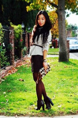Zara jacket - Zara boots - Bakers bag - la mer accessories - YSL accessories