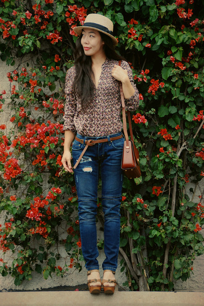 Jeffrey Campbell shoes - Riley jeans - H&M hat - H&M blouse