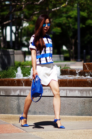 Celine bag - Ray Ban sunglasses - Zara skirt
