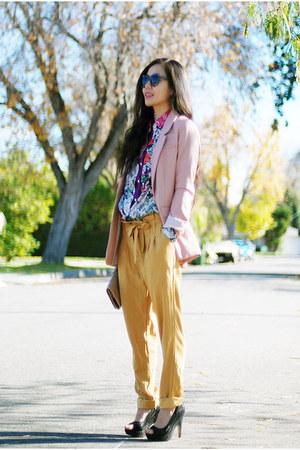 Kimchi Blue pants - H&M blazer - JCrew shirt - Zara shirt - Dolce Vita pumps