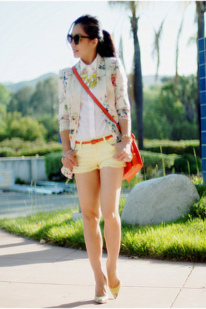 truth and pride blazer - Zara shorts - Zara pumps - necklace DIY accessories