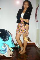 m blazer - carrefour shirt - Veritasblogspotcom skirt - Charles & Keith shoes -