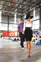white giordano blouse - black Voir skirt - brown Nichii belt - gray vincci shoes