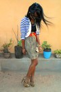 Golden-purse-beige-kaidaner-zebra-heels-striped-military-vest-vest