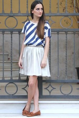 blue DrDenim shirt - off white Bonsui skirt