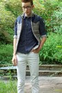 Navy-urban-outfitters-shoes-white-asos-jeans-navy-guess-shirt