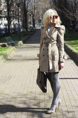 Zara coat - Louis Vuitton accessories - Krizia sunglasses