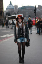 burnt orange fedora Dorothy Perkins hat - black Topshop boots