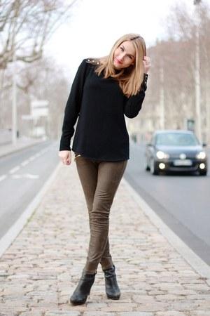Zara jeans - Tommy Hilfiger boots - Zara top