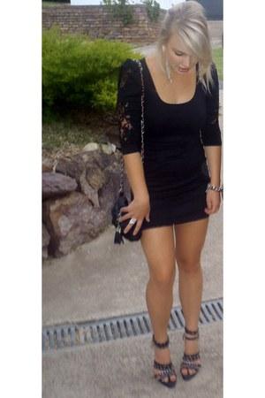 black IntoFahsion dress - black Sportsgirl bag - black style heels