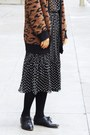 Black-polka-dot-chictopia-shop-dress-dark-brown-zara-cardigan