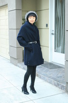 blue Harputs Market coat - black Zara shoes
